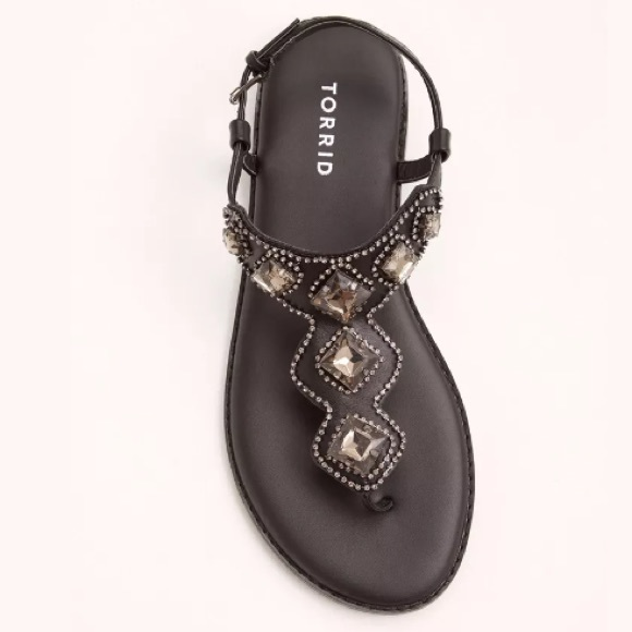 4f31633a5 Torrid Large Gemstone T-Strap Sandals Wide Width